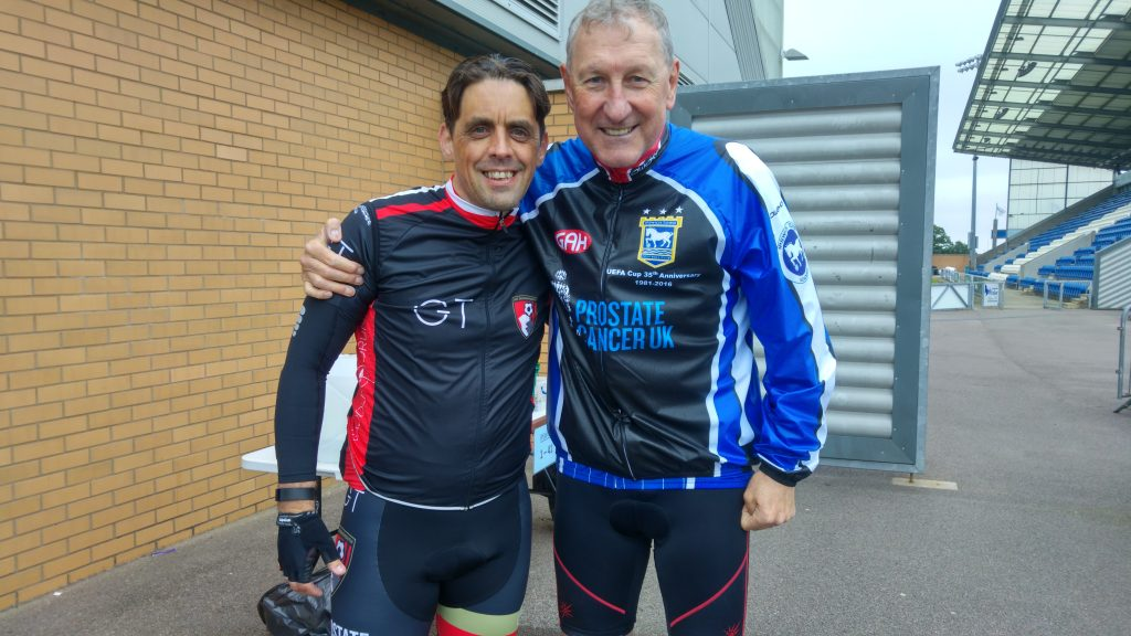 Day 1 - Me and Terry Butcher at Colchester Utd