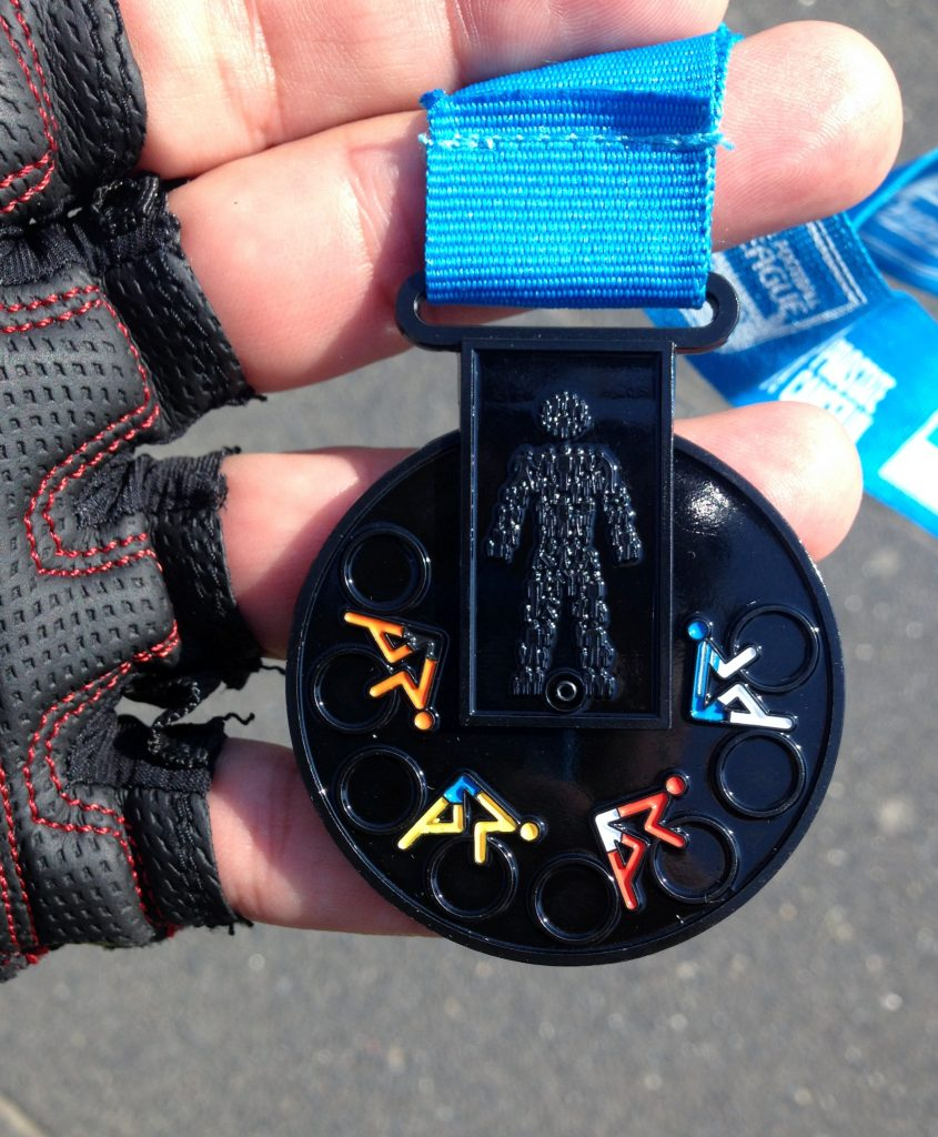 Day 2 - Finishers medal